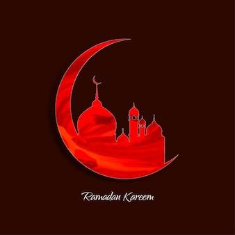Belle conception de fond ramadan kareem