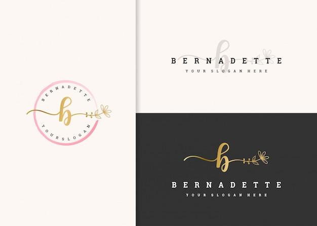 Belle conception de logo féminin.