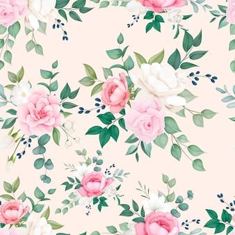 Belle conception de modèle sans couture floral doux