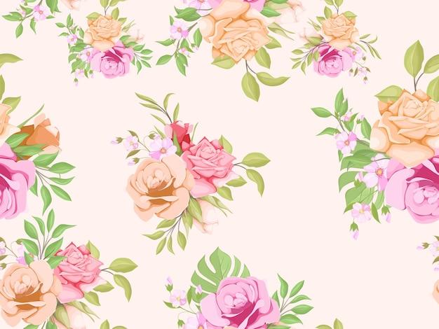 Belle conception de modèle sans couture florale