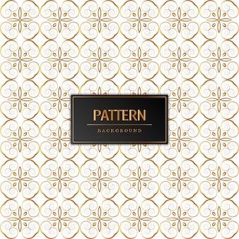 Belle conception de motif doré
