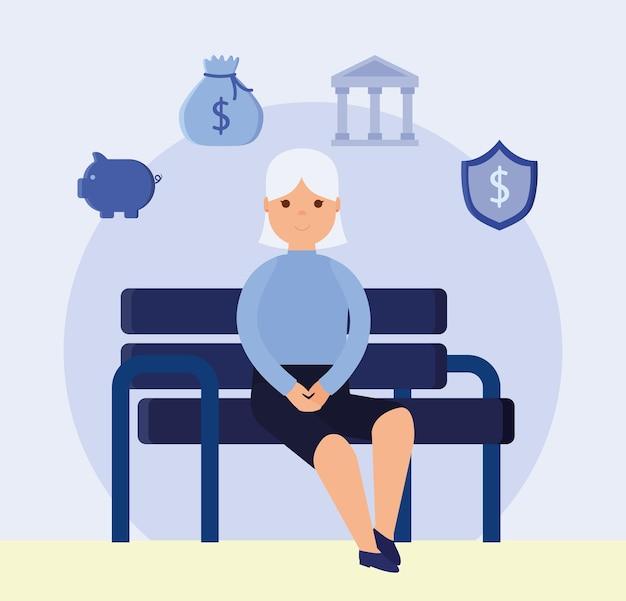 Belle conception de retraite avec des articles