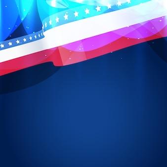 Belle conception de vecteur de drapeau américain