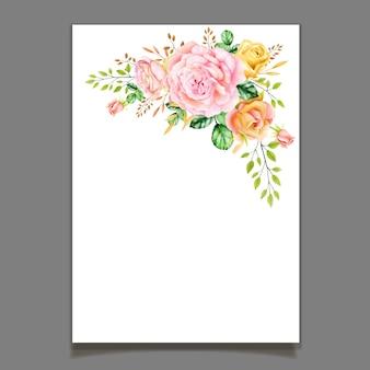 Belle couronne de rose aquarelle