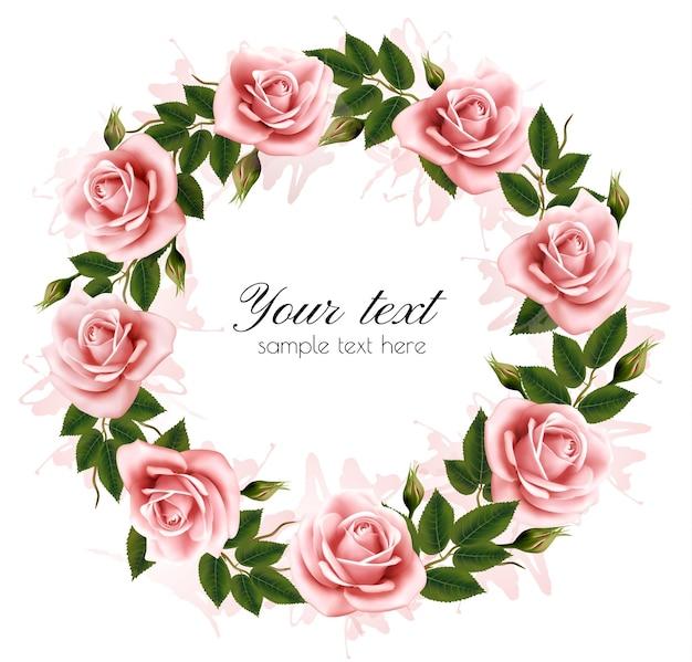 Belle couronne de roses. vecteur.