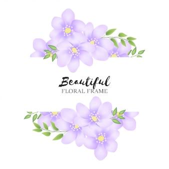 Belle décoration de cadre floral