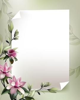 Belle décoration florale avec un papier