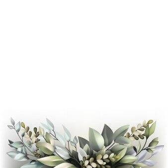 Belle décoration de la flore avec espace copie