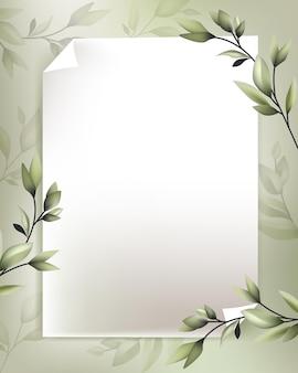 Belle décoration de flore avec un papier