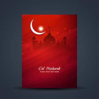 Belle eid mubarak conception de la brochure