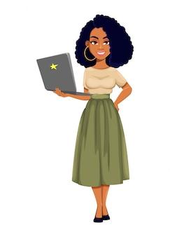 Belle femme d'affaires afro-américaine
