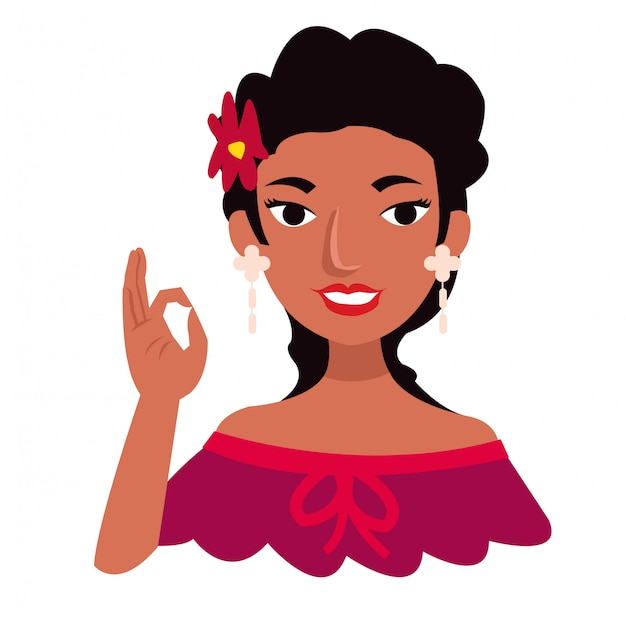 Belle fille mexicaine porter des vêtements traditionnels