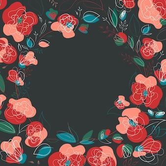 Belle fleur botanique. conception de cadre saisonnier de beauté.