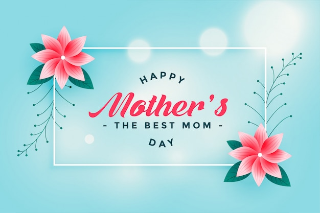 Belle fleur heureuse fête des mères