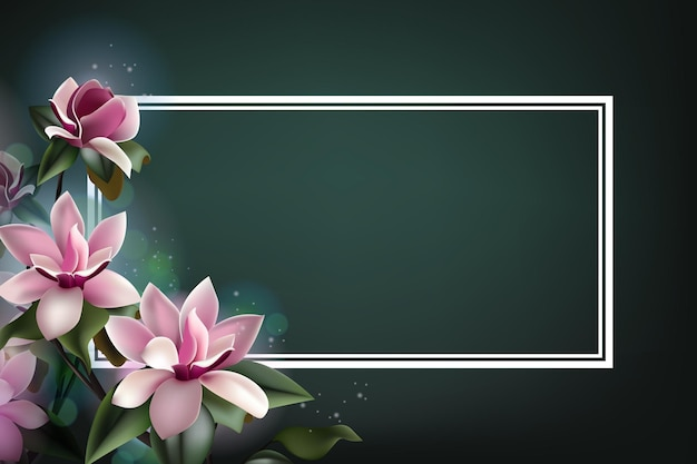 Belle fleur de printemps encadrant avec espace copie