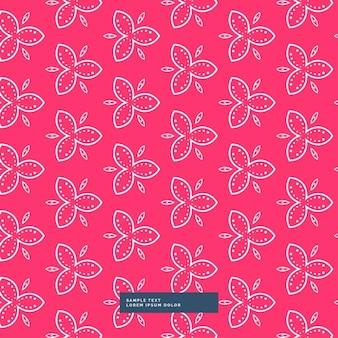 Belle fleur rose motif de fond