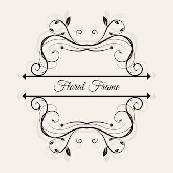 Belle floral frame