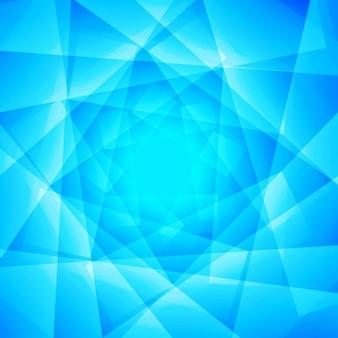 Belle fond bleu polygonale