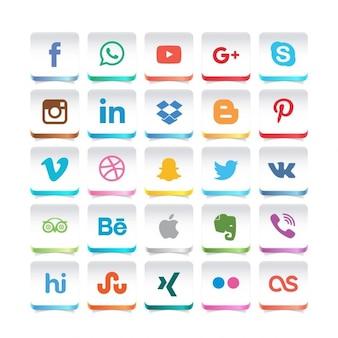 Belle icône réseau social