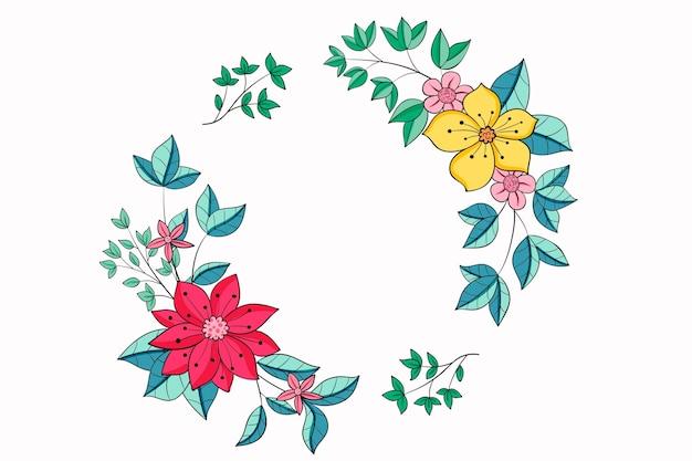 Belle illustration de couronne florale