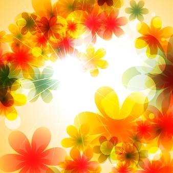 Belle illustration de fond de vecteur de fleur