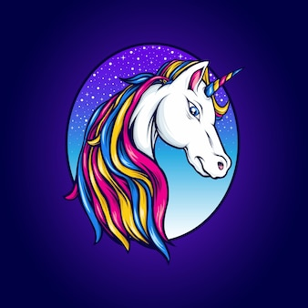 Belle illustration de licorne