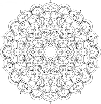 Belle illustration de mandala de vecteur vintage orné