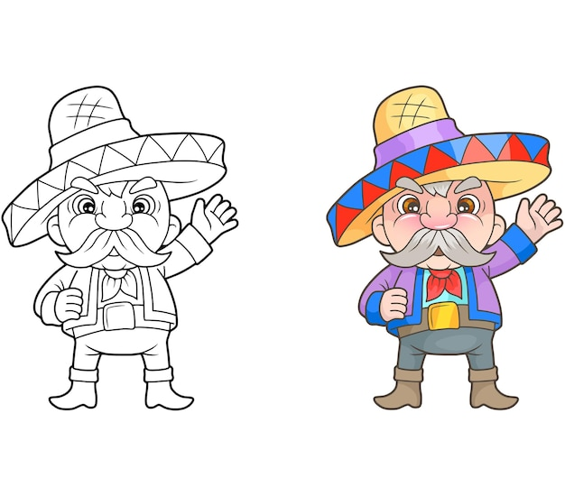 Belle illustration mexicaine drôle