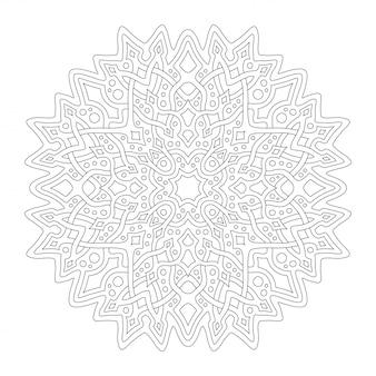 Belle illustration monochrome pour la page de livre de coloriage adulte