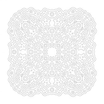 Belle illustration monochrome pour la page de livre de coloriage avec des étoiles souriantes lineart et dessin animé