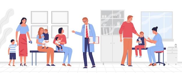 Belle illustration de la section médicale pour les enfants