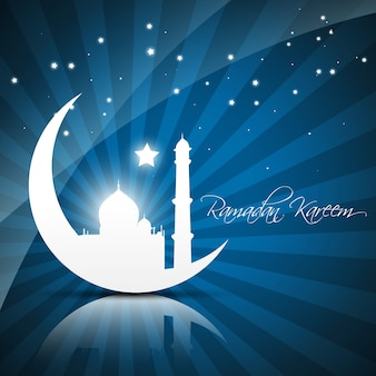 Belle illustration vectorielle du ramadan kareem