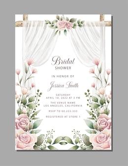 Belle invitation de douche nuptiale