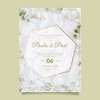 Belle invitation de mariage avec photo