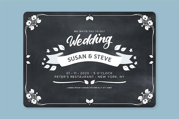 Belle invitation de mariage rétro