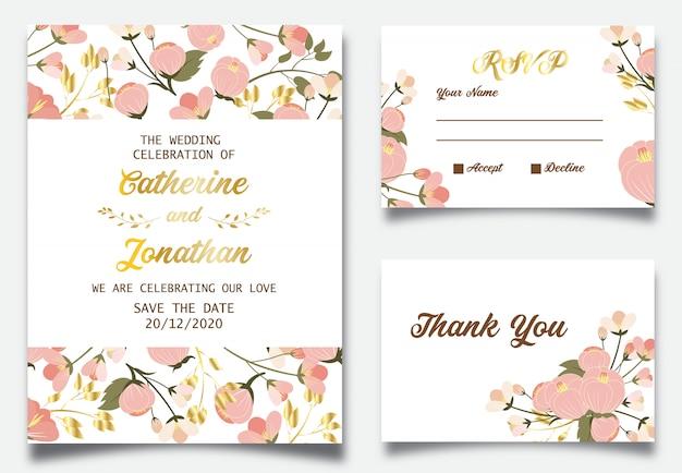 Belle invitation de mariage