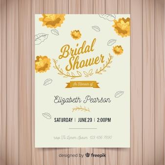 Belle invitation nuptiale de douche