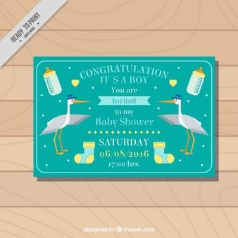Belle invitation pour le baby shower