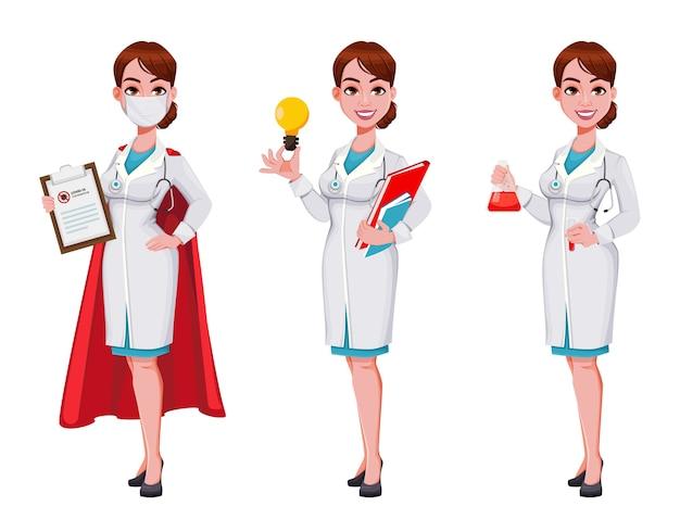 Belle jeune femme médecin
