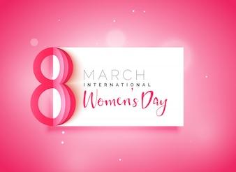 Belle journée des femmes beau fond rose