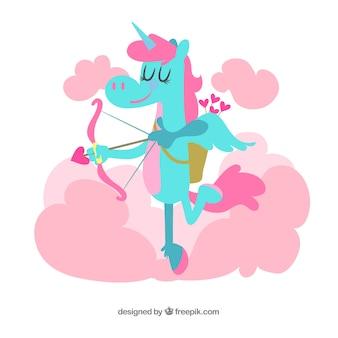 Belle licorne avec un style coloré