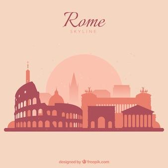 Belle ligne d'horizon de rome