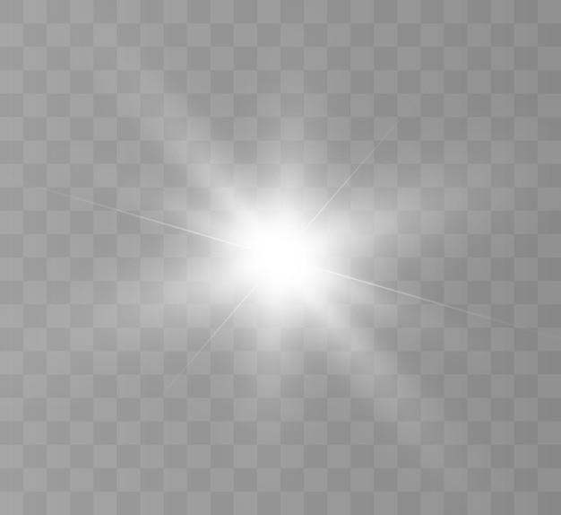 Belle lumière blanche. bright star, flash lumineux