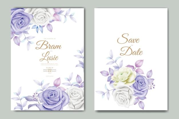 Belle main dessin invitation de mariage design floral