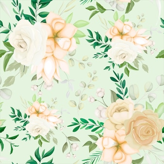 Belle main dessin motif floral sans couture