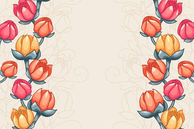 Belle main peint fond floral