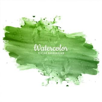 Belle main verte dessiner fond aquarelle