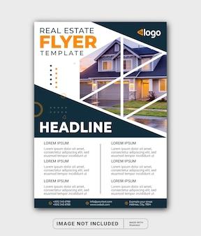 Une belle maison à vendre modèle de flyer immobilier ou couverture