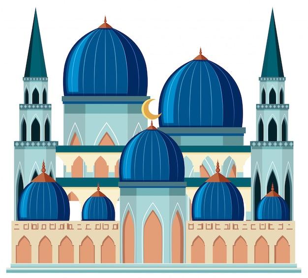 Une belle mosquée bleue