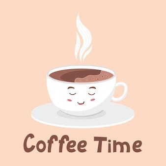 Belle mousse blanche de tasse de café